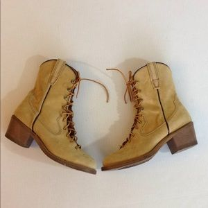 Vintage Lace up boots with Good Year Welt